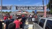 The Crowds were huge